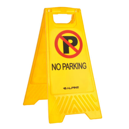 2-SIDED FOLD-OUT FLOOR SAFETY SIGN WITH NO PARKING, PACK OF 3
