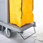 LODGING HOTEL / HOUSEKEEPING CART – LARGE LOCKING THREE SHELF