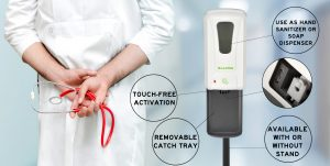 Automatic Hands-Free Foam Hand Sanitizer/Soap Dispenser with Drip Tray, 1200 mL, White