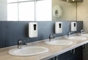 AUTOMATIC HANDS-FREE LIQUID/GEL HAND SANITIZER/SOAP DISPENSER, 1200 ML, WHITE