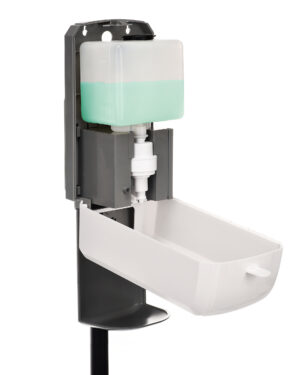 AUTOMATIC HANDS-FREE LIQUID/GEL HAND SANITIZER/SOAP DISPENSER WITH FLOOR STAND, 1200 ML, WHITE