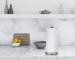 PEWTER PERFECT PAPER TOWEL HOLDER