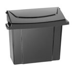 ALPINE INDUSTRIES 451-BLA SANITARY NAPKIN RECEPTACLE, BLACK