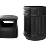 ALPINE INDUSTRIES OUTDOOR/INDOOR TRASH CAN, BLACK, 16-GALLON CAPACITY