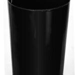 ALPINE INDUSTRIES OUTDOOR METAL SLATTED TRASH RECEPTACLE WITH RAIN BONNET LID – 38 GALLON BLACK