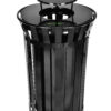 ALPINE INDUSTRIES RAIN BONNET LID FOR OUTDOOR METAL WASTE RECEPTACLE – 38 GALLON BLACK