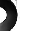 ALPINE INDUSTRIES OUTDOOR METAL WASTE RECEPTACLE – 38 GALLON BLACK
