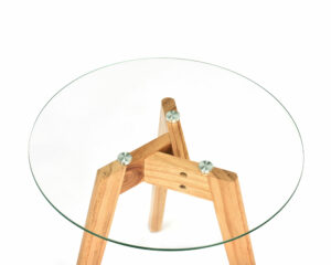 """ADIRHOME """"TOTALLY NATURAL"""" GLASS TOP TABLES IN TWO SIZES FIT ANYWHERE"""