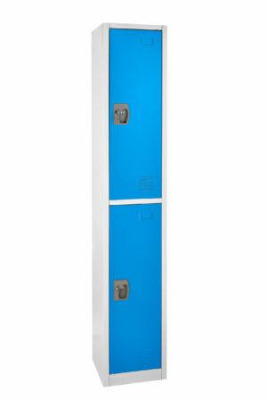 Large Blue Locker with 2 doors 2 hooks.