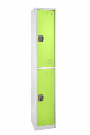 Large Green Locker with 2 doors 2 hooks