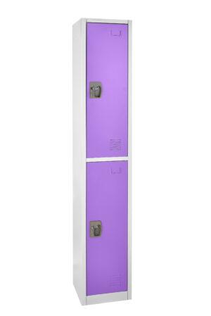 Large Purple Locker with 2 doors 2 hooks