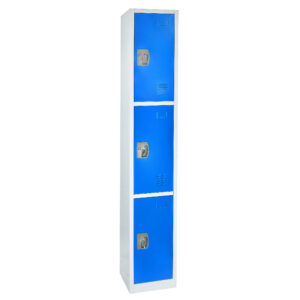 Large Blue Locker with 3 doors 3 hooks