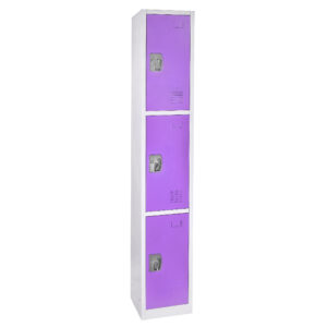 Large Purple Locker with 3 doors 3 hooks