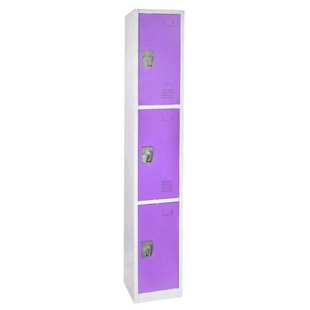 Large Purple Locker with 3 doors 3 hooks