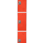 Large Red Locker with 3 doors 3 hooks