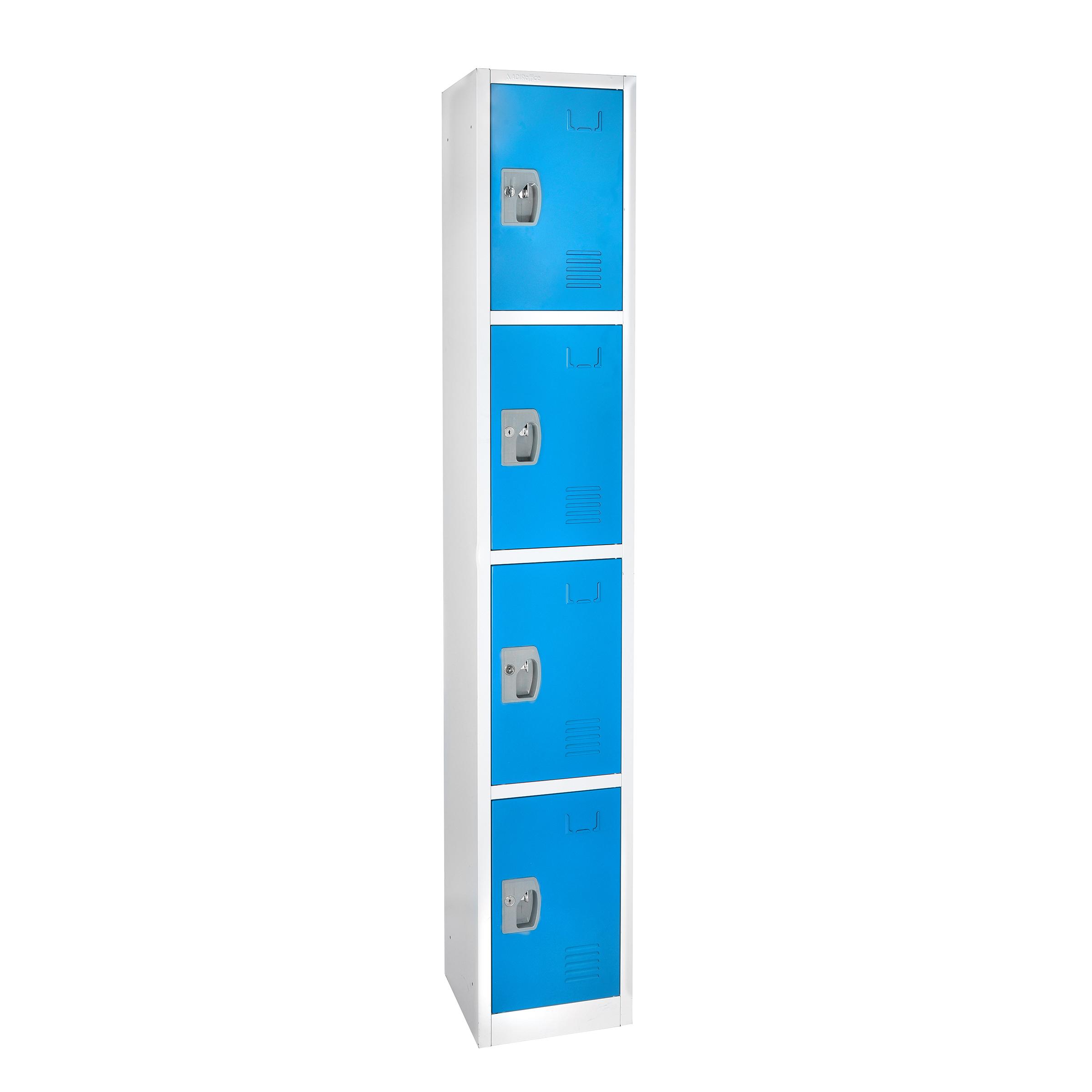 Large Blue Locker with 4 doors 4 hooks