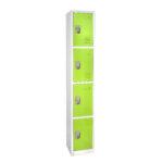 Large Green Locker with 4 doors 4 hooks