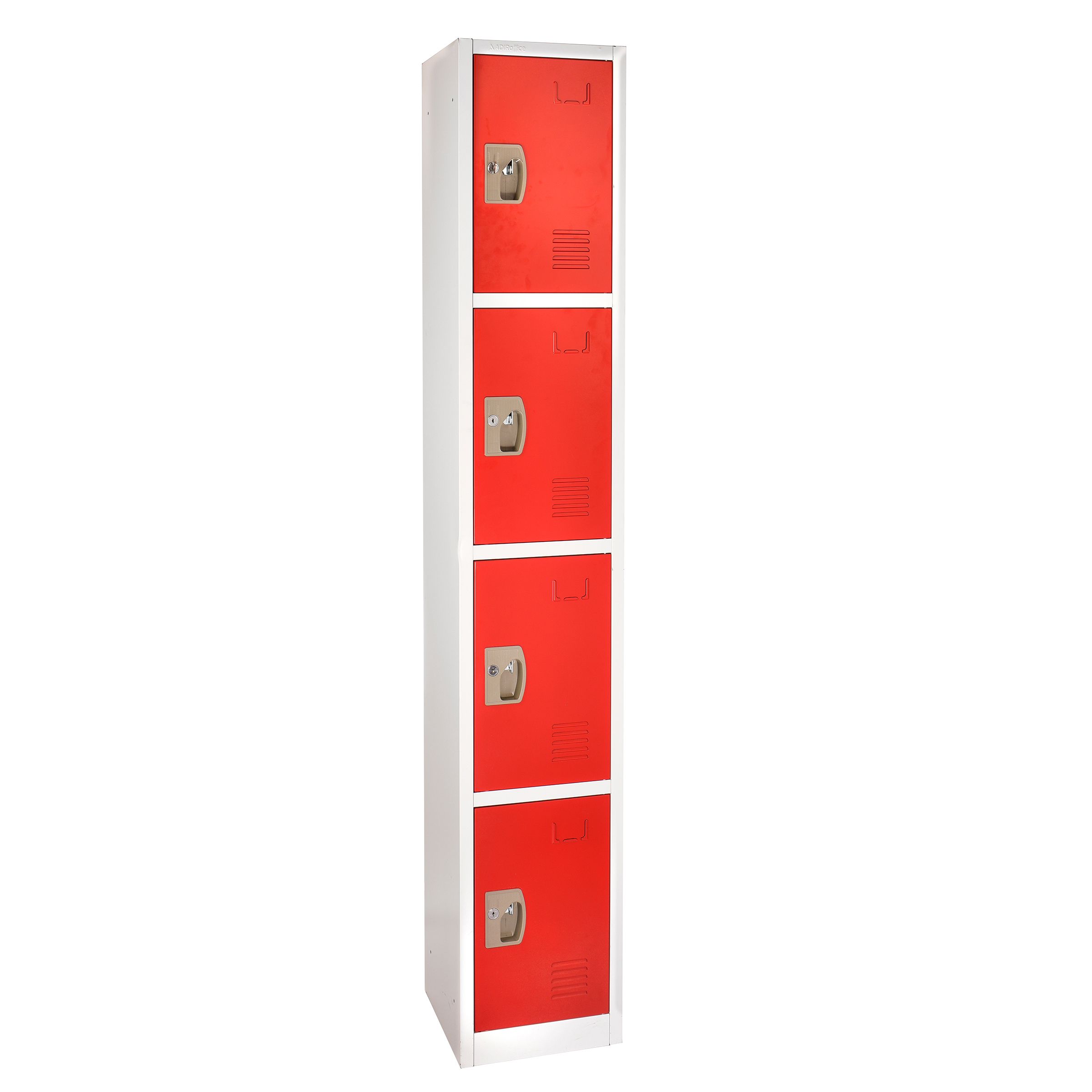 Large Red Locker with 4 doors 4 hooks