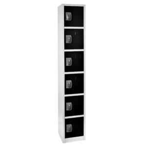 Large Black Locker with 6 doors 6 hooks