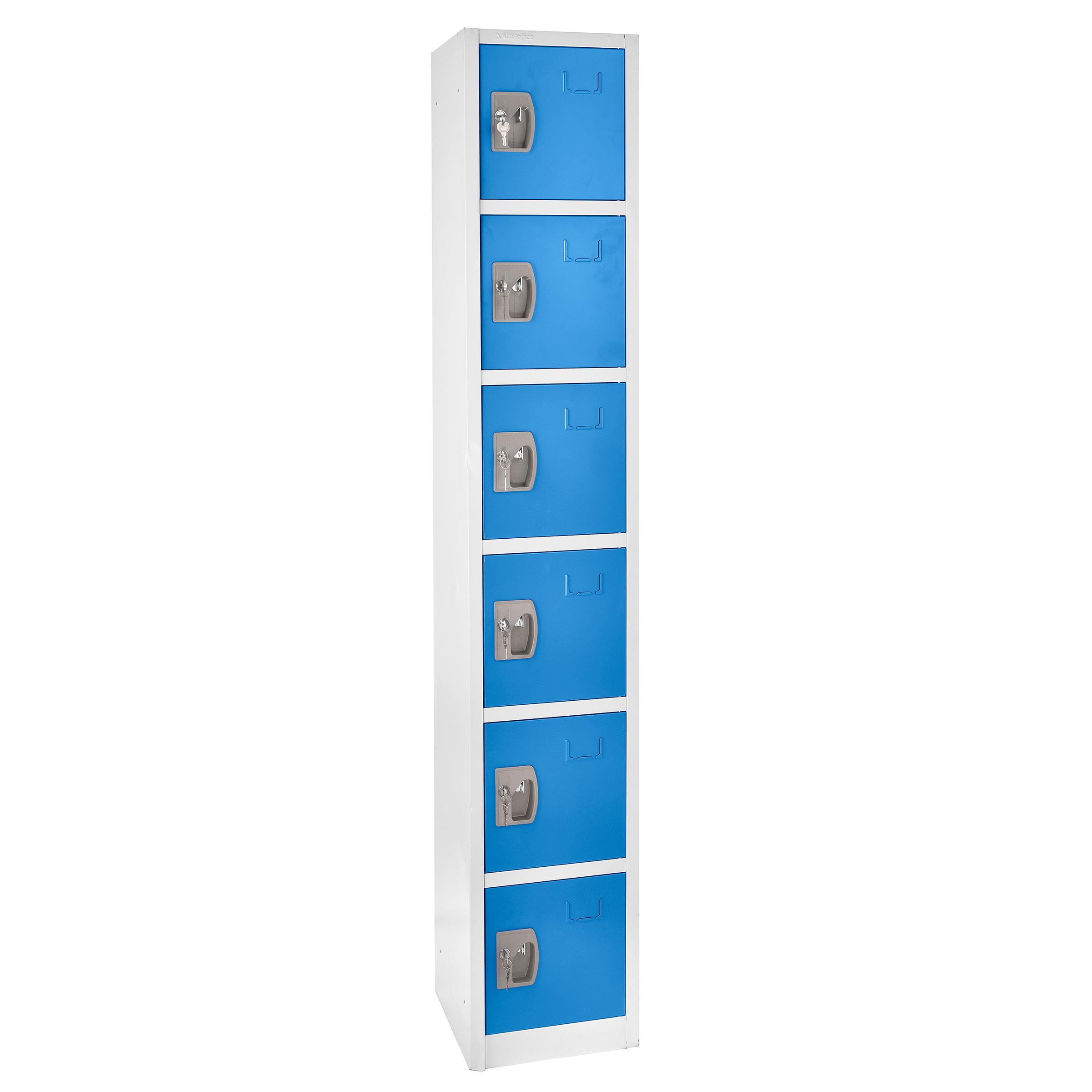Large Blue Locker with 6 doors 6 hooks