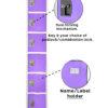 Large Purple Locker with 6 doors 6 hooks