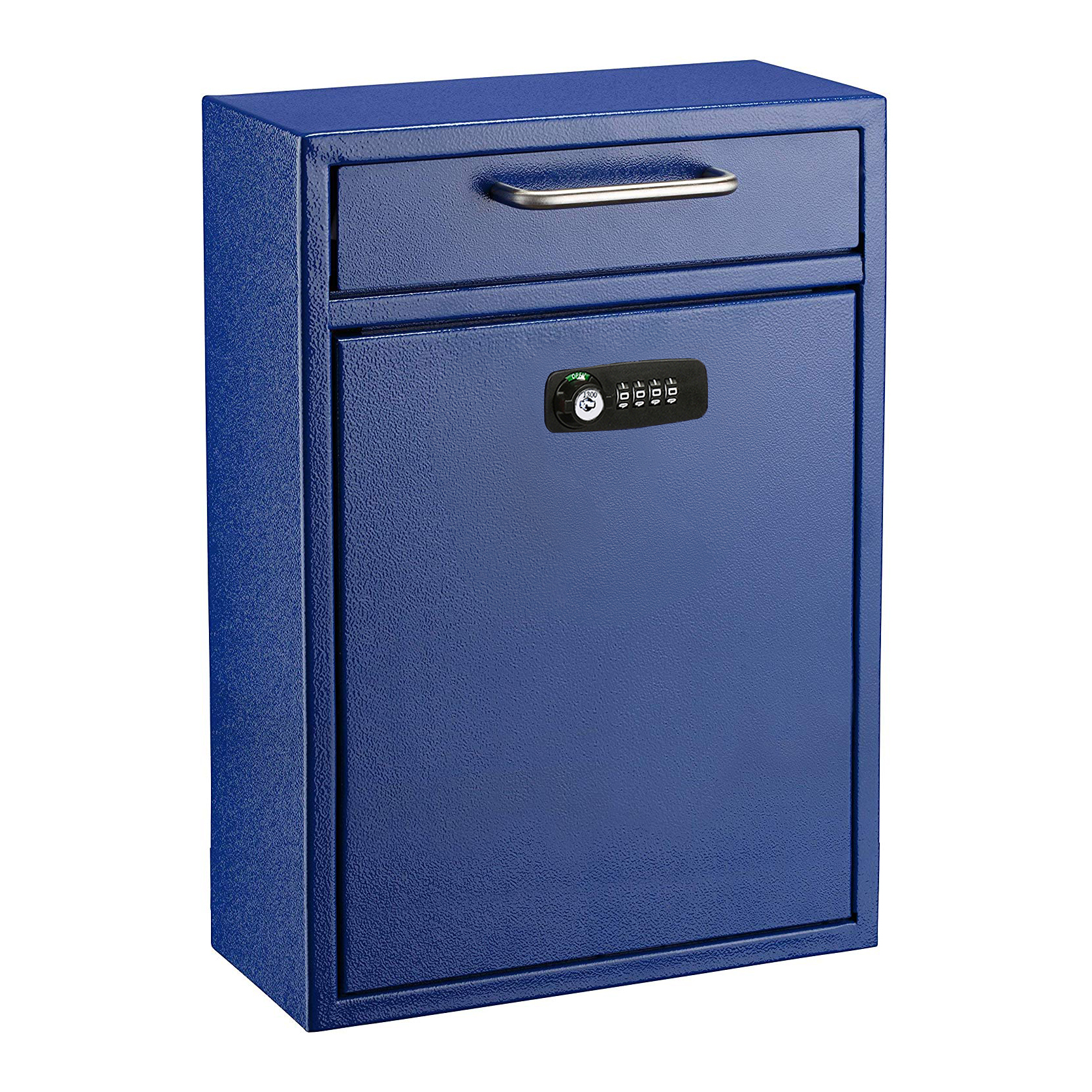 Ultimate Drop Box Wall Mounted Mail Box with Key and Combination lock, Large
