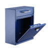 Ultimate Drop Box Wall Mounted Mail Box with Key and Combination lock, Medium