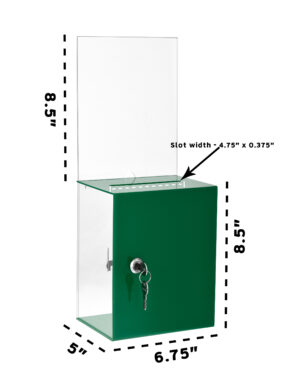 TALL DONATION CHARITY BOX WITH LARGE DISPLAY
