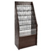 BLACK WOODEN LITERATURE RACK BROCHURE HOLDER