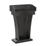 Wood Speaking Lectern, Drawer and Storage Area (BLACK)