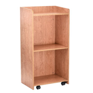 Medium Oak Hostess Stand with wheels