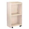 White Hostess Stand with wheels