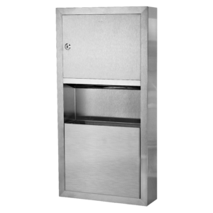 Recessed Paper Towel Dispenser / Waste Receptacle