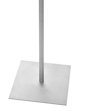 """SANITIZING WIPES CONTAINER STAND W/ SMALL SIGN FRAME - 8.5x11"""" Frame, 44"""" TALL"""