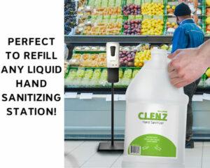 CLENZ - Alpine Industries 1 Gallon/128 oz Instant Hand Sanitizer- 4/Case