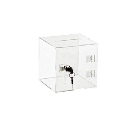 Acrylic Ballot box Donation Box with Easy Open Rear Door