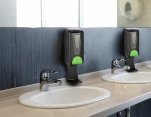 AUTOMATIC HANDS-FREE FOAM HAND SANITIZER/SOAP DISPENSER WITH DRIPTRAY 1200ML, BLK