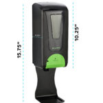 Automatic Hands-Free Liquid/Gel Hand Sanitizer/Soap Dispenser with Drip Tray, 1200 mL, BLACK