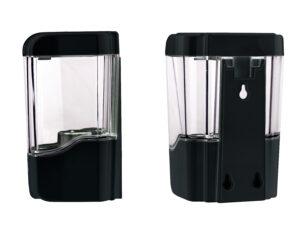 Automatic Hands-Free Transparent Gel Hand Sanitizer/ Liquid Soap Dispenser, 700 mL, Black