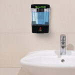 Automatic Hands-Free Transparent Gel Hand Sanitizer/ Liquid Soap Dispenser, 700 mL, Black