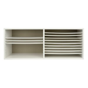 Extra Wide Wood Construction Paper Organizer - White