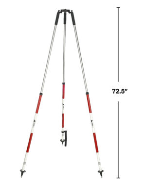 Prism Pole Tripod- Red and White
