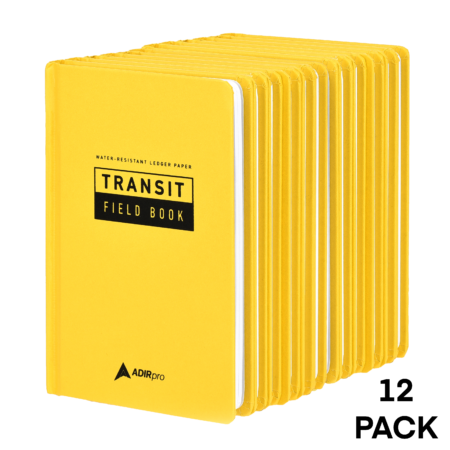 HARDCOVER TRANSIT FIELD BOOK 6-PACK