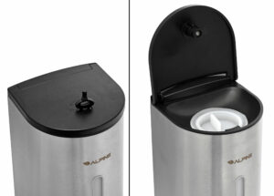 Automatic Hands-Free Gel Hand Sanitizer/Soap Dispenser, 700 mL, Stainless Steel