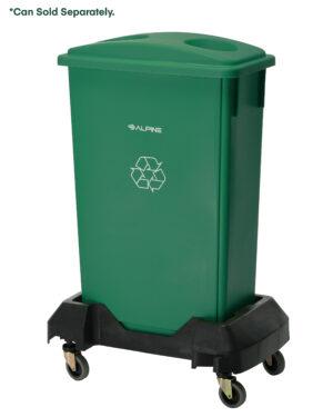 Rectangular Trash Can Dolly, Black