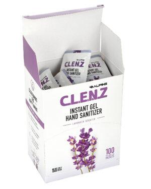 CLENZ - Alpine Industries 2ml Instant GEL Hand Sanitizer packets - Lavender scent - 100/Case