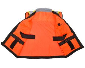 Heavy Duty Class 2 Surveyors Utility Safety Vest, Orange, Small