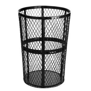48 Gallon Metal Mesh Outdoor Trash Receptacle