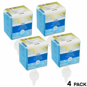 CLENZ Antibacterial Blue Breeze Foaming Hand Soap, Cartridge, Case of 4