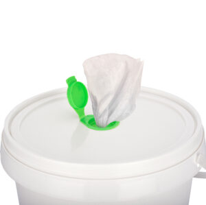 Clenz 800ct Light Lemon Scent Antibacterial Sanitizing Wipes with Refillable Bucket, 2 Buckets 1600 Wipes